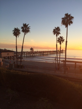 San Clemente CA - one of the worlds best beaches and where our plan was hatched