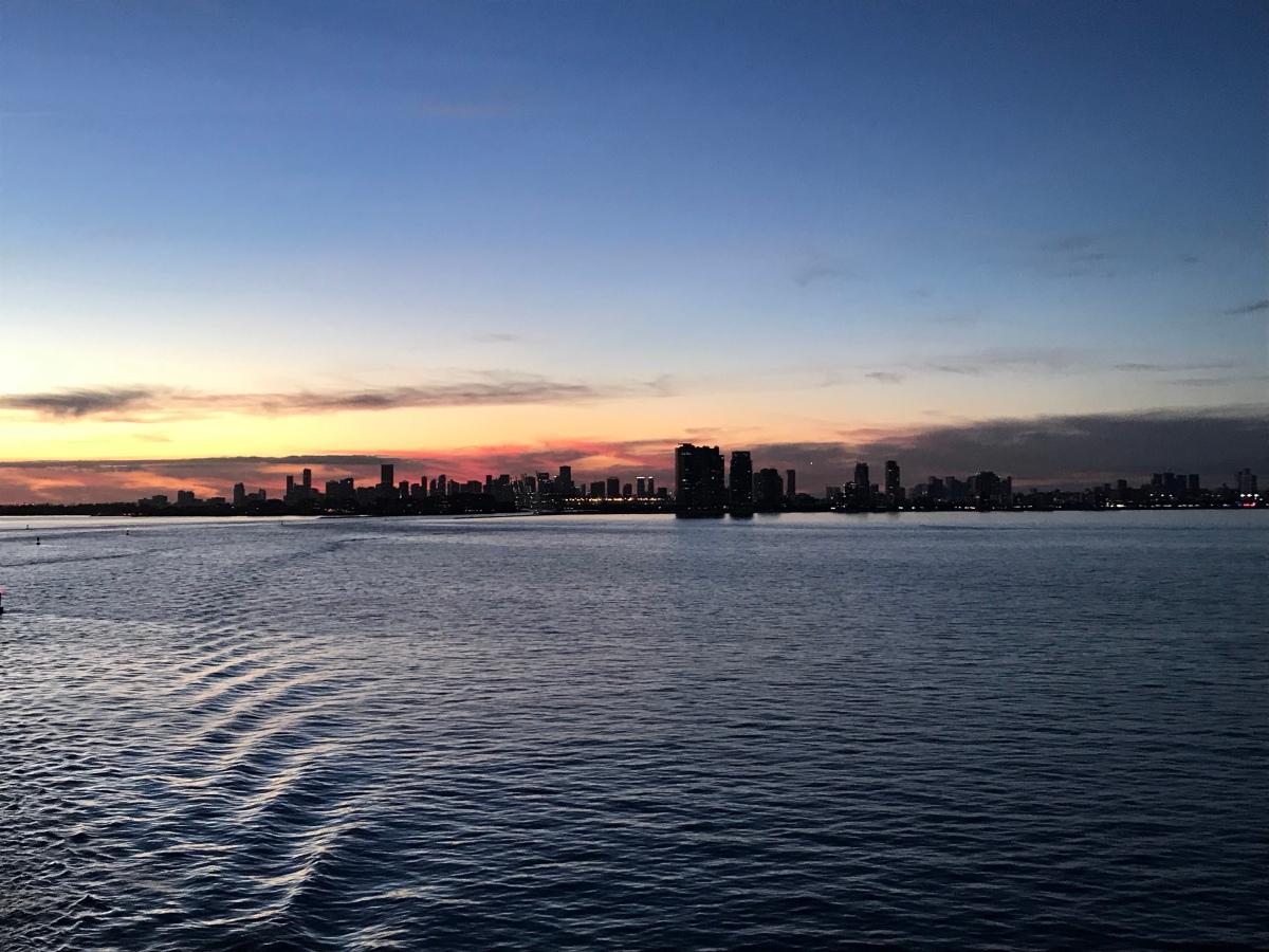 Miami. Night one.