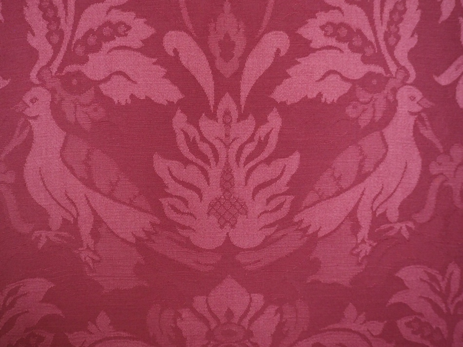 Annie's bedroom wall paper.